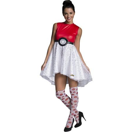 Pokemon Pokeball Dress Adult Halloween Costume - Pokeball Costume