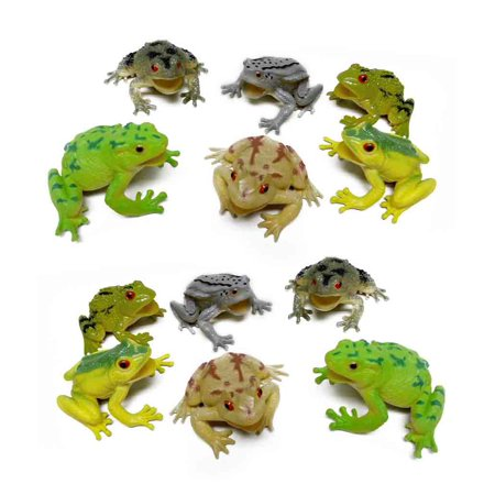 Fun Central (AZ916) Assorted Frog Figure, Toy Frog Gift, Frog Toys For Kids - Frog Toys
