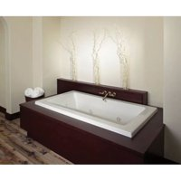 "Jacuzzi SIA7242CCR4CWY 72"" x 42"" Sia Drop In Luxury Salon Spa Bathtub in Oyster"