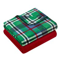 "Mainstays 2-Pack Plaid Fleece Throw Blankets, 50"" x 60"""