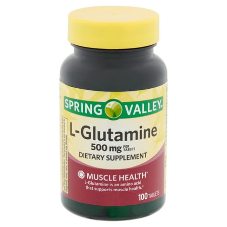 Spring Valley L-Glutamine Tablets, 500 mg, 100 (Best L Glutamine For Sugar Cravings)