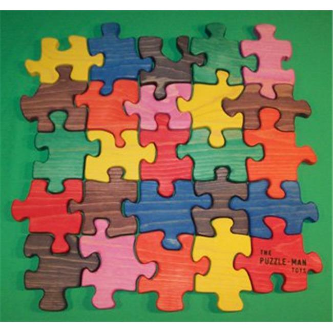 Charlies Woodshop W-1177.alt 16 in. Wooden Educational Jig Saw Puzzle Square with OutSide... by Charlies Woodshop