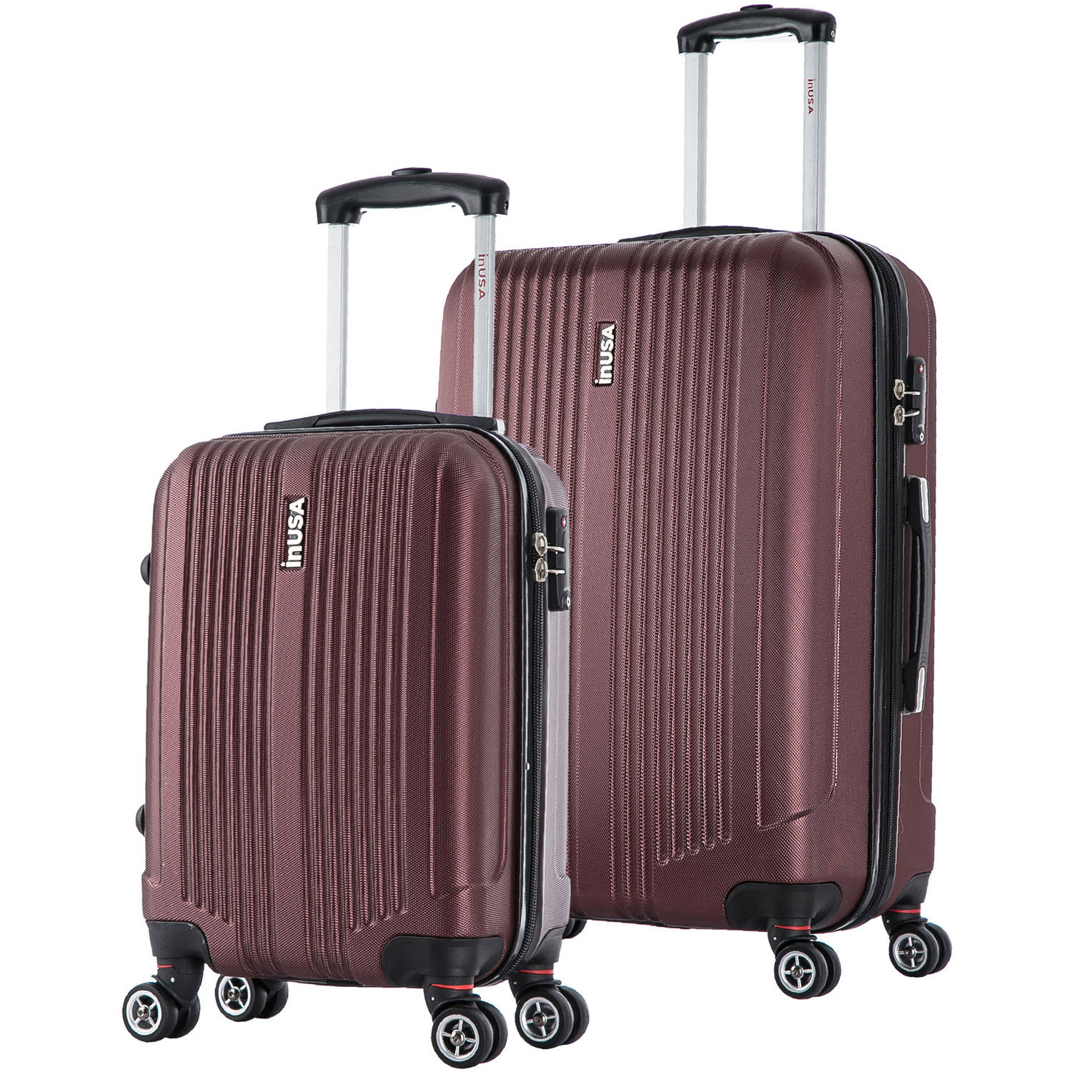 "InUSA San Francisco Collection Lightweight Hardside Spinner 2-Piece Set, 18"", 26"""