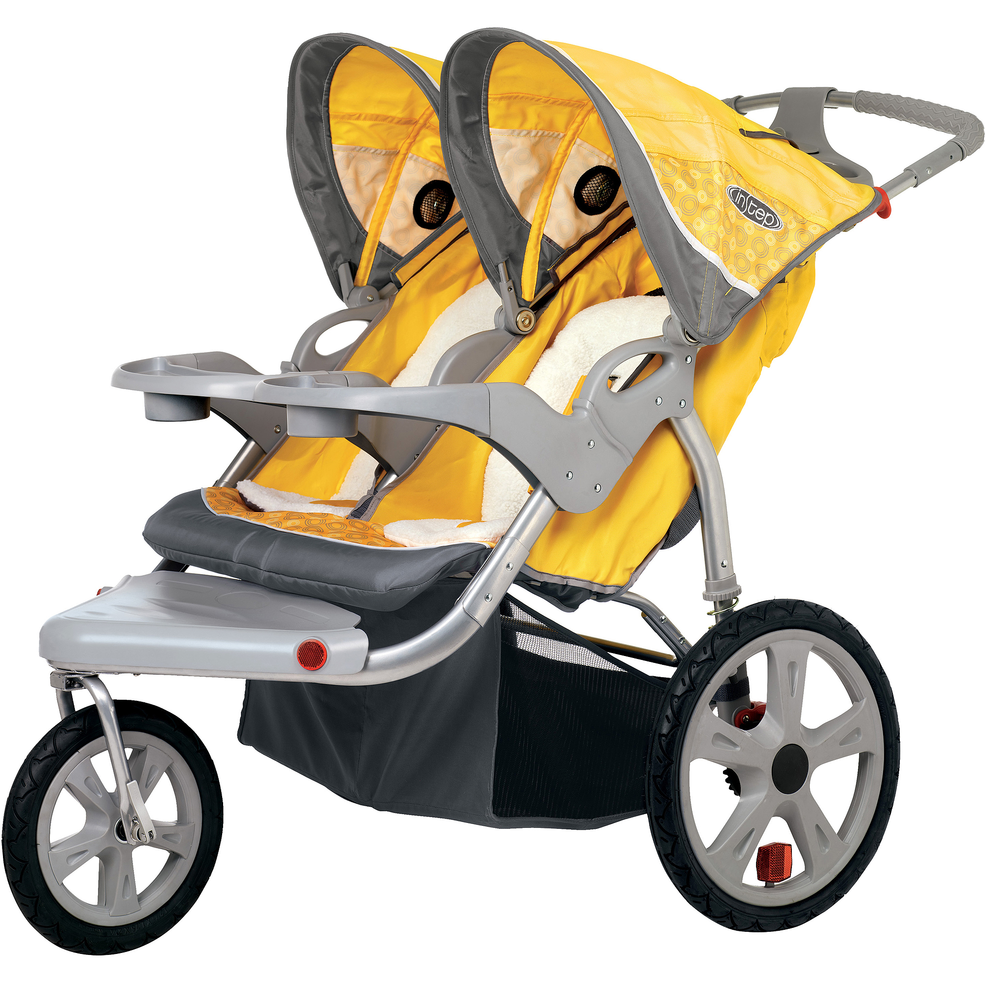 InStep - Grand Safari Double Jogging Stroller, Yellow and Gray