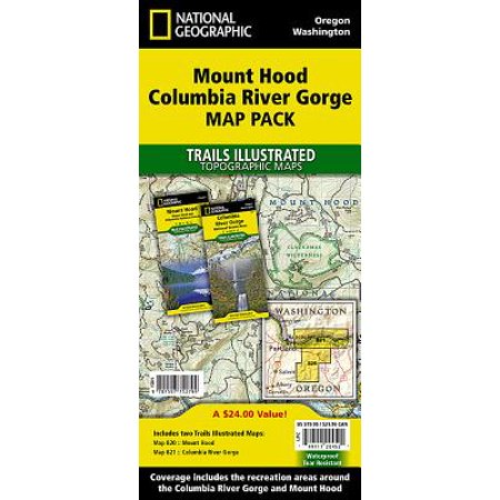 Mount Hood, Columbia River Gorge [map Pack Bundle] (Red River Gorge Trail Map)