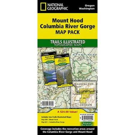 Columbia River Map (Mount Hood, Columbia River Gorge [map Pack Bundle])
