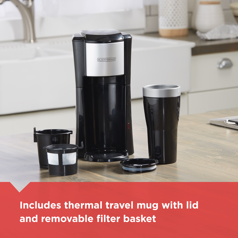 Blackdecker Single Serve Coffee Maker Black Cm618 Walmartcom