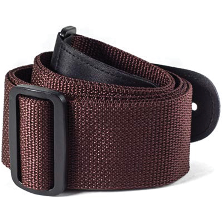 """Dunlop D07-01BR 2"""" Poly Guitar Strap with Leather Ends Brown by Dunlop"""