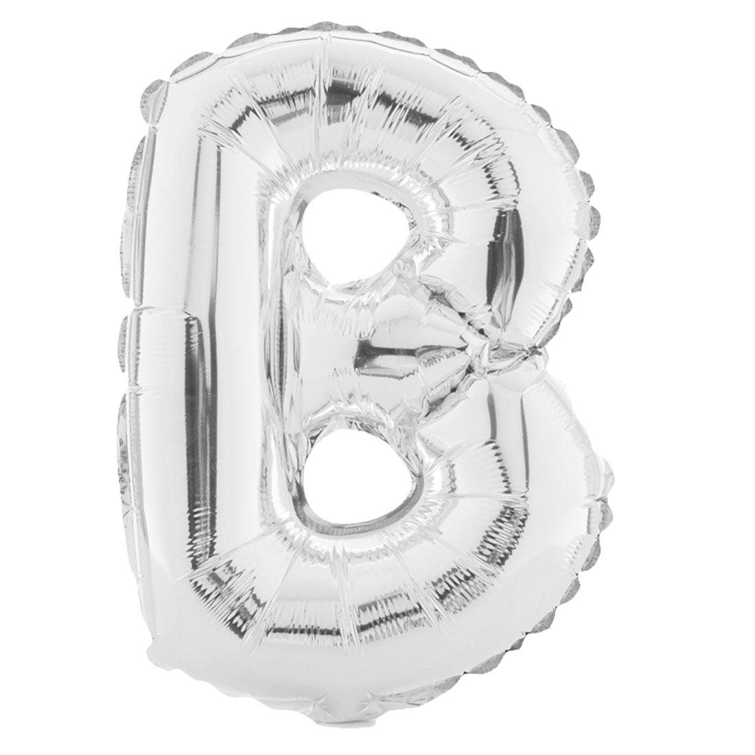 "Unique Bargains 16"" Silver Tone Letter B Balloon Helium Birthday Wedding Festival Decor"