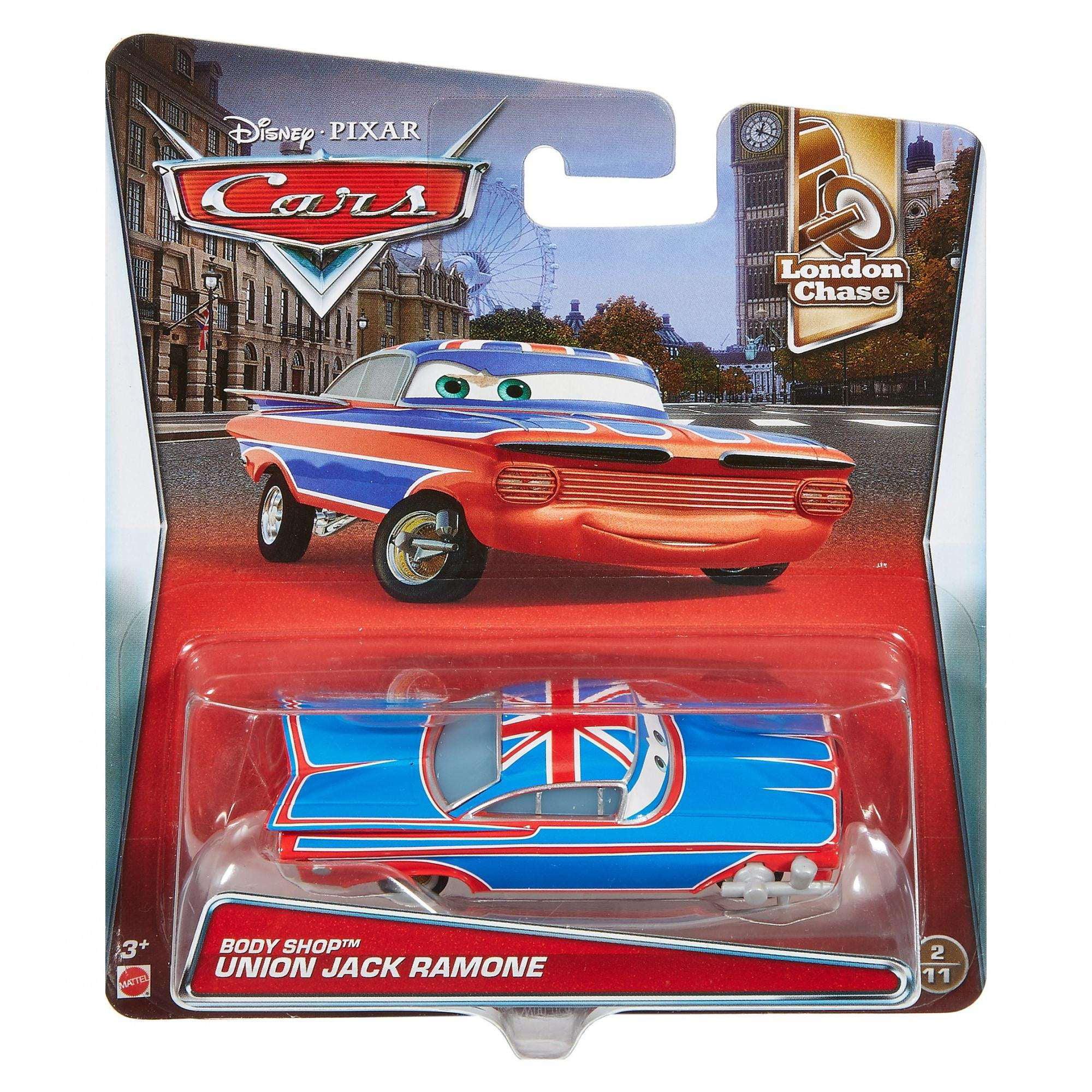 Disney Pixar Cars 2 Union Jack Ramone Diecast Toy Car 1:55 Boys Gift