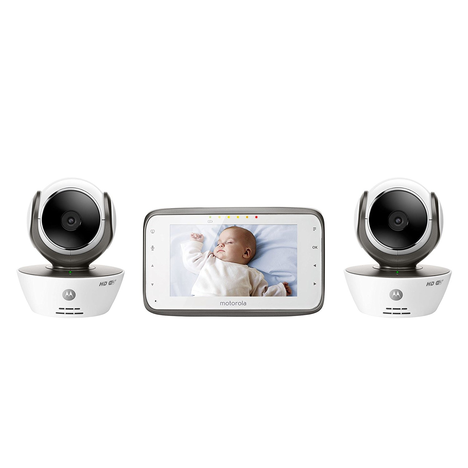 Motorola MBP854CONNECT-2 Dual Mode Baby Monitor with 2 Cameras and 4.3-Inch LCD Parent Monitor and Wi-Fi... by Motorola