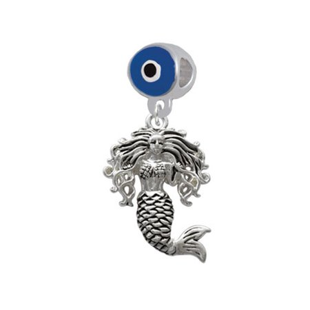Mermaid - Blue Evil Eye Charm Bead