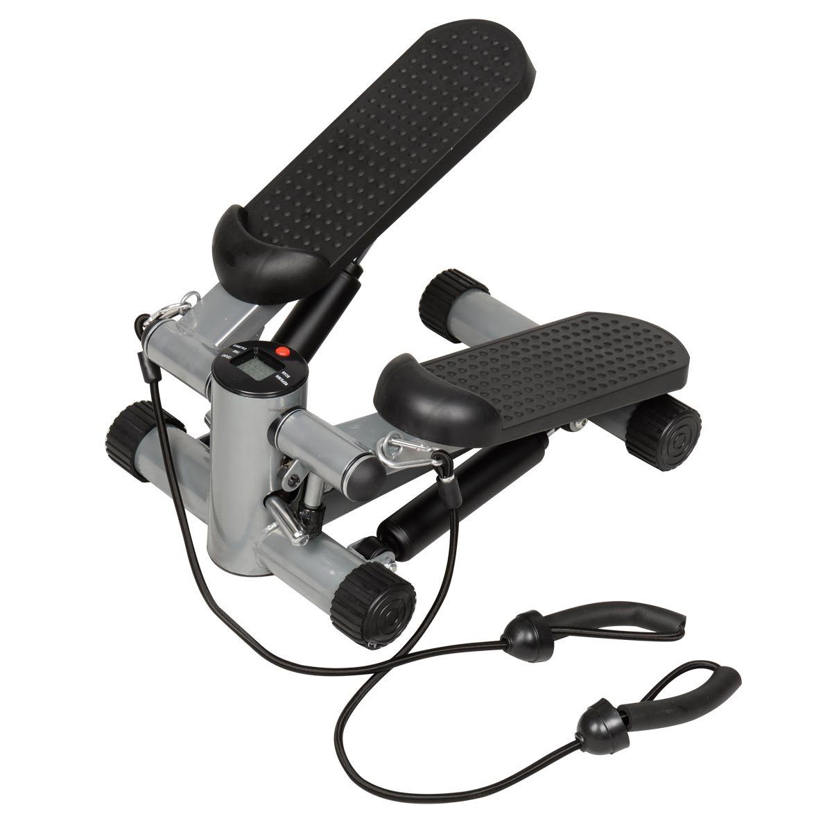 Costway Air Stair Climber Stepper Exercise Machine Aerobic Fitness Step Equipment Bands (Black)