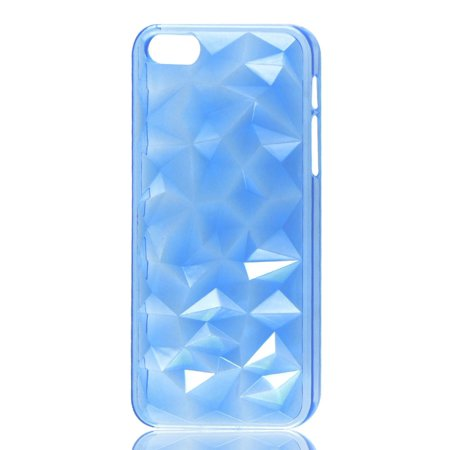 Unique Bargains 3D Water Cube Clear Blue Hard Back Case Cover Protector for iPhone 5 5G