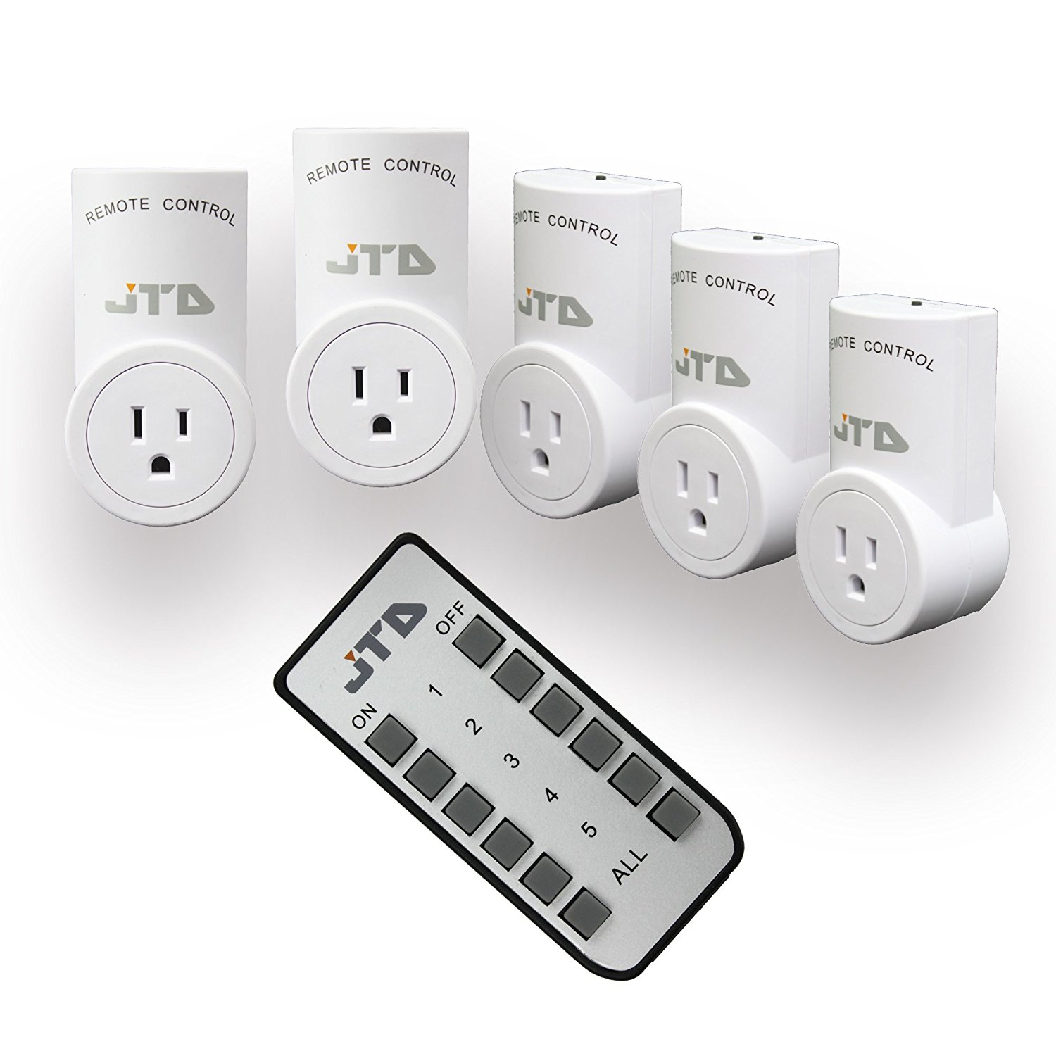 JTD 5 Pack Energy Saving Auto-programmable Wireless Remote Control ...