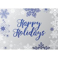 CEO Cards Holiday Foil Printed Greeting Cards Box Set of 25 Cards & 26 Envelopes - H1709
