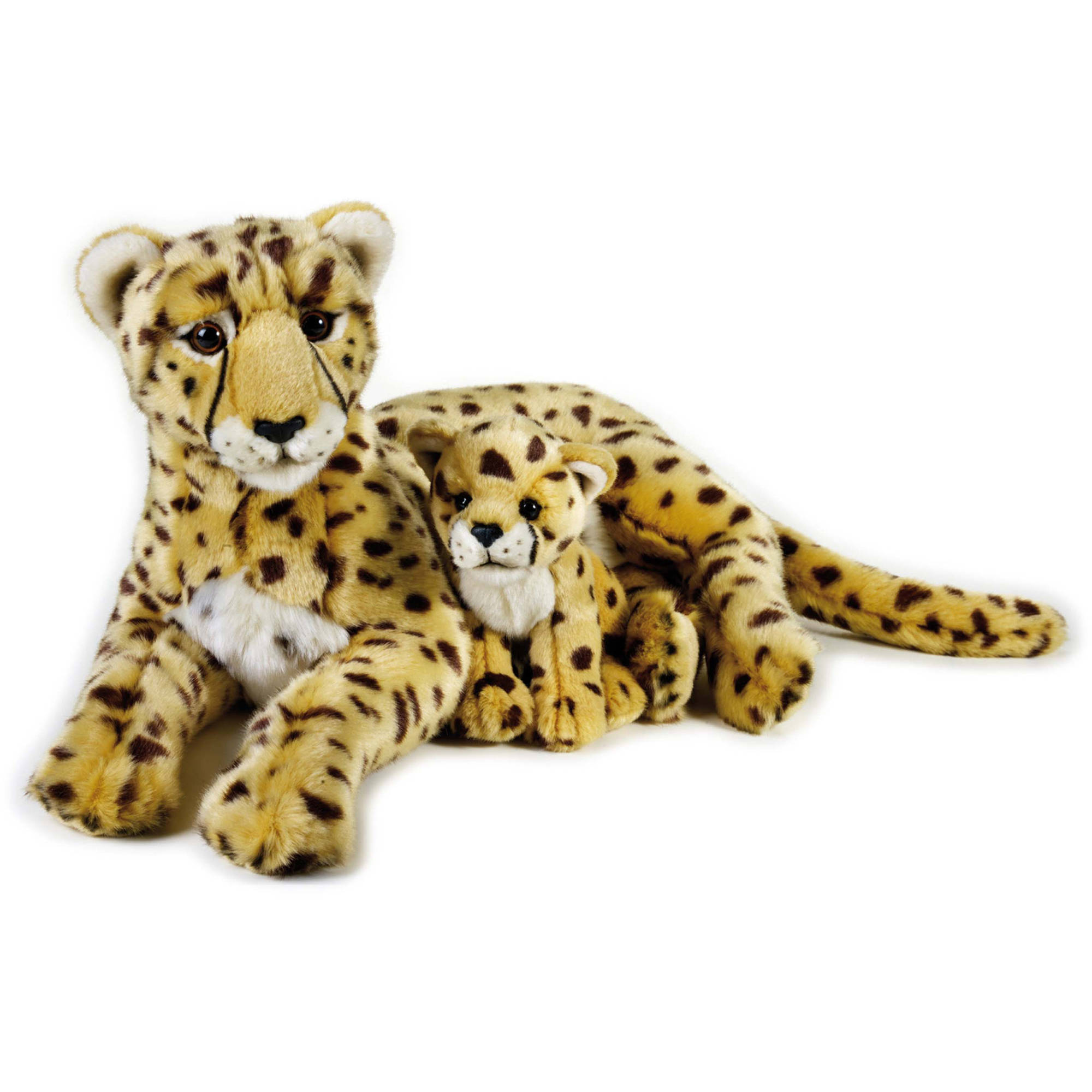 Lelly National Geographic Plush, CHeetah with Baby by Venturelli