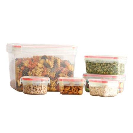 Imperial Home 12 Pcs Plastic Mix Food Storage Containers Set With Air Tight Locking (Vita Mix Polycarbonate Container)