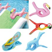 Cheers Cute Slipper Parrot Dolphin Shape Windproof Beach Towel Clip Drying Peg Clamp