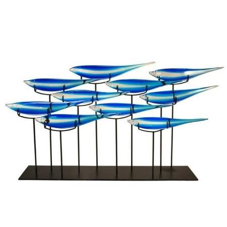 Dale Tiffany 10 Fish Blue Sculpture (Tiffany Kitten)