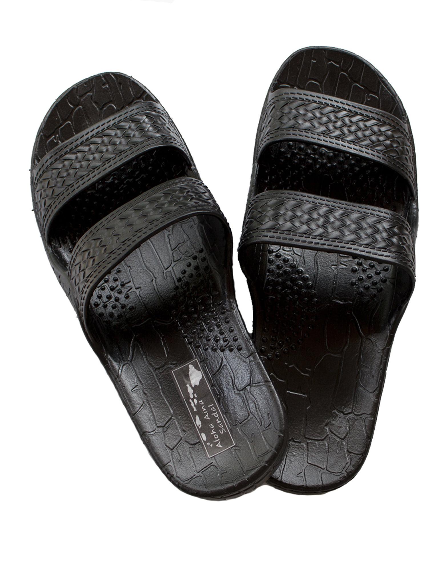 Hawaii Brown and Black Jesus Sandals