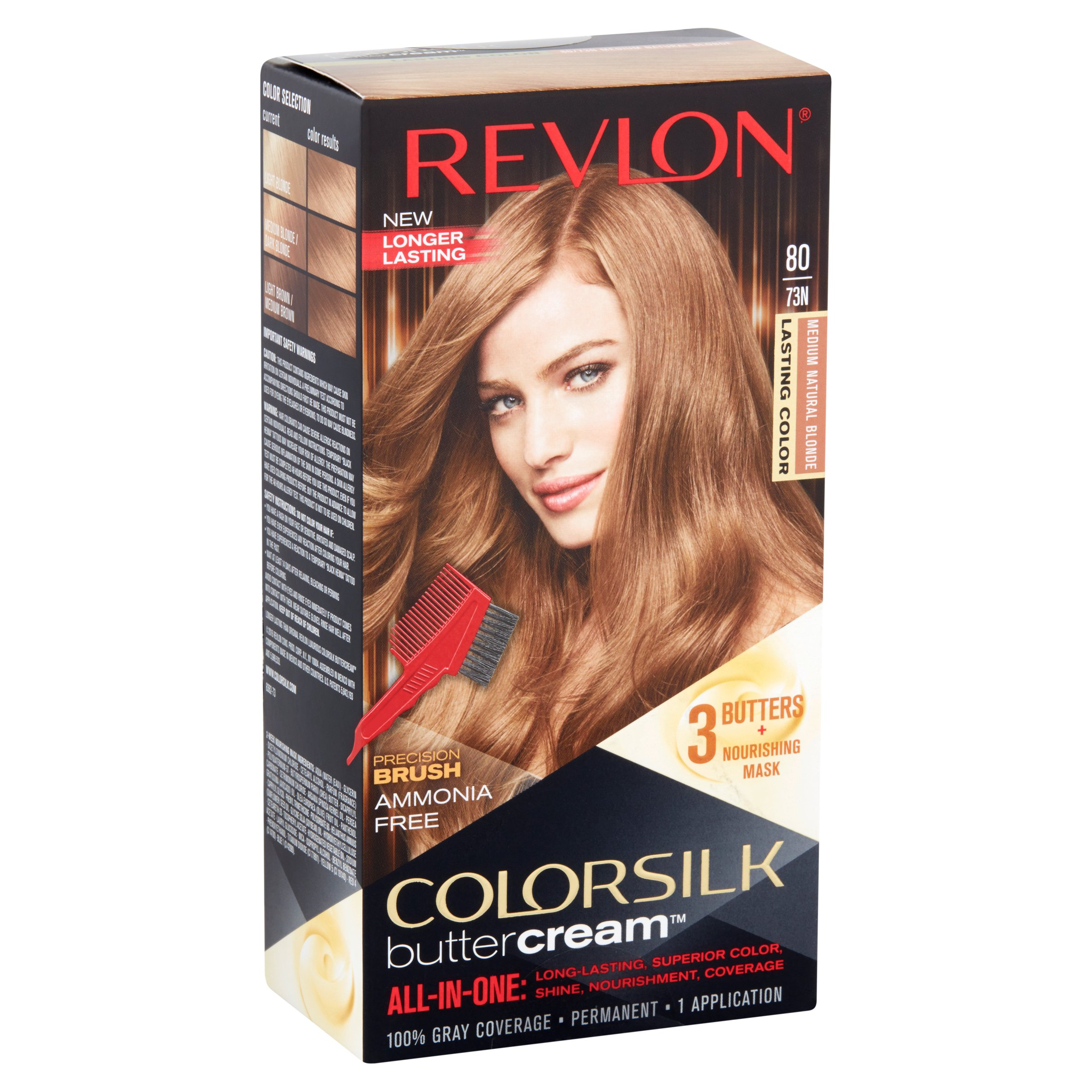 Revlon Colorsilk Buttercream Hair Color 53 Medium Golden Brown