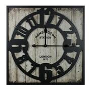 Entrada Kensington Station Metal Wall Clock
