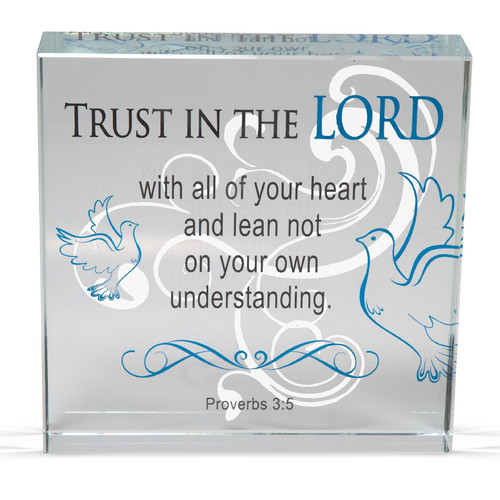 Angelstar Trust Clearly Inspired Textual Art Plaque (Set of 2)
