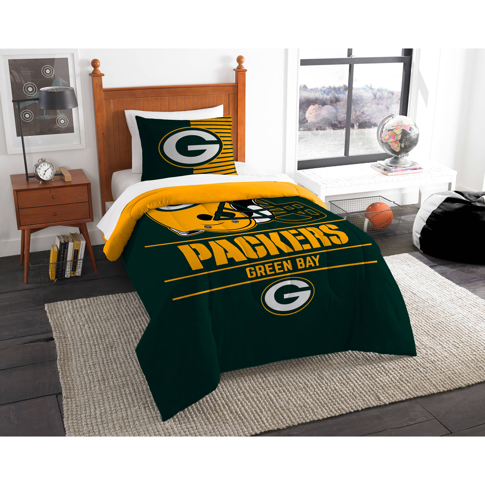 "NFL Green Bay Packers ""Draft"" Bedding Comforter Set"