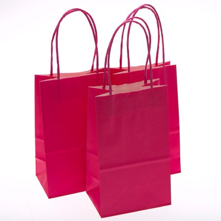 small hot pink kraft gift - Hot Pink Gift Bags