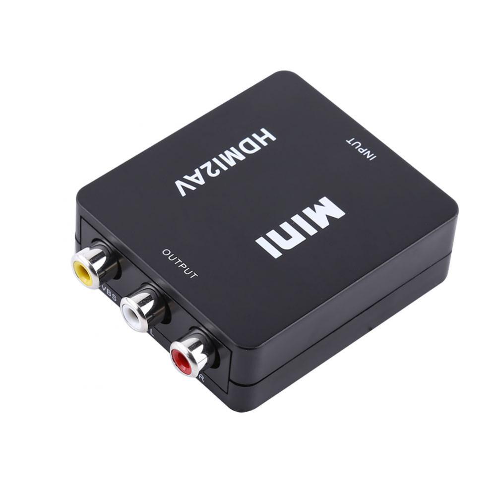TOPINCN Adapter Converter,Digital Mini 1080P HDMI to RCA Audio Video AV CVBS Adapter Converter For HDTV WD