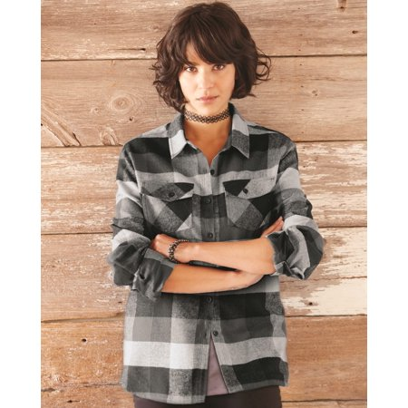 Burnside Women's Yarn-Dyed Long Sleeve Flannel Shirt