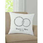 Personalized Wedding Rings Pillow
