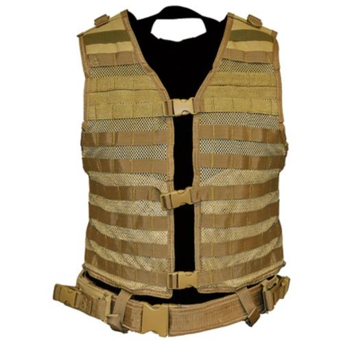 NcStar Molle/Pals Paintball Airsoft Vest - Large - Tan
