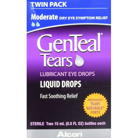 Genteal Tears Moderate Twin Pack Eye Drops, 0.5 Fluid Ounce