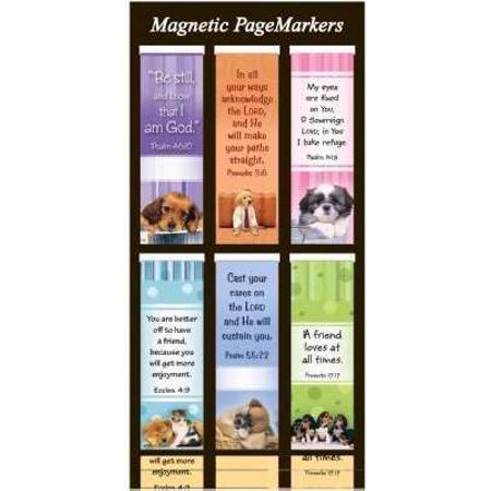 Bookmark-Pagemarker-Magnetic-Dogs/Be Still-Set Of 6