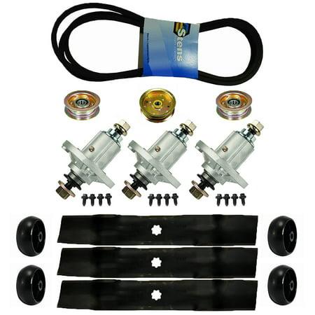 lawn mower deck blades spindles belt idler wheel kit john. Black Bedroom Furniture Sets. Home Design Ideas