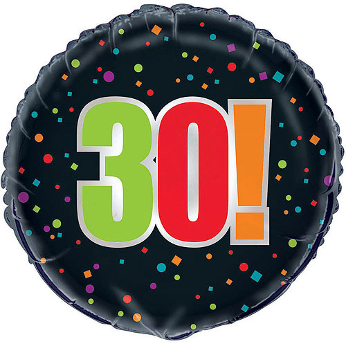 "18"" Foil Birthday Cheer 30th Birthday Balloon"