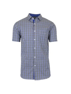 a25d1554dff4 Product Image Mens Short Sleeve Casual Dress Shirts Slim Fit Button Down