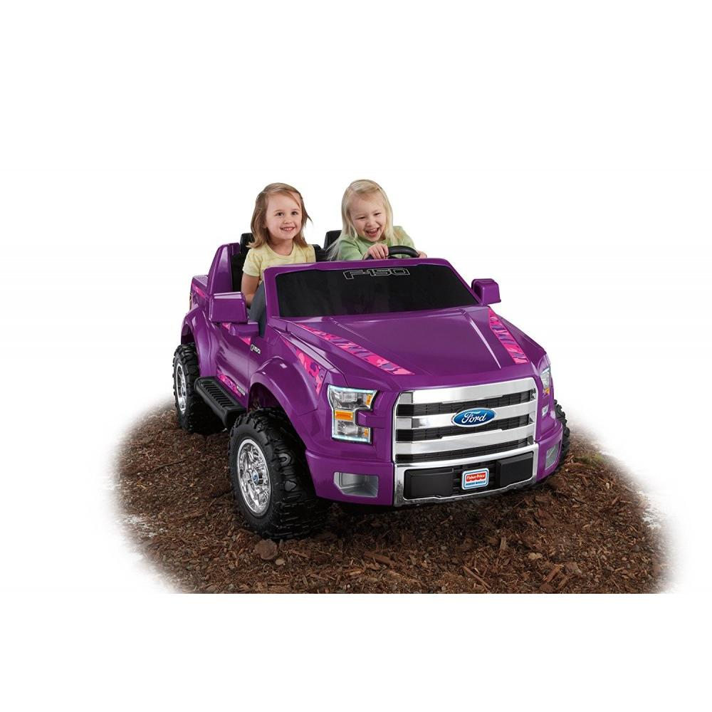 Power Wheels Girls' Ford F-150 12-Volt Battery-Powered Ride-On, Purple Camo