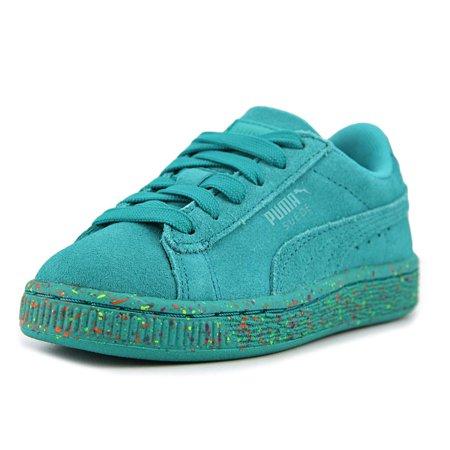Puma Suede Classic Multi Splatter Girl Round Toe Athletic Shoes -  Walmart.com 81b729b32