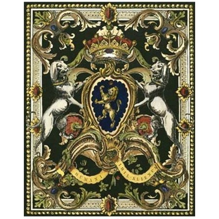 15 Poster Print - Crest on Black I Poster Print (12 x 15)
