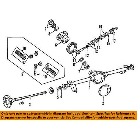 Jeep CHRYSLER OEM 96-01 Grand Cherokee Rear Differential-Gear 4856372