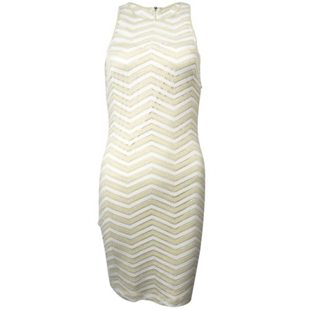 Guess LA Women's Holly Sleeveless Chevron Dress (10, White/Gold)](Holly Golightly Dress)