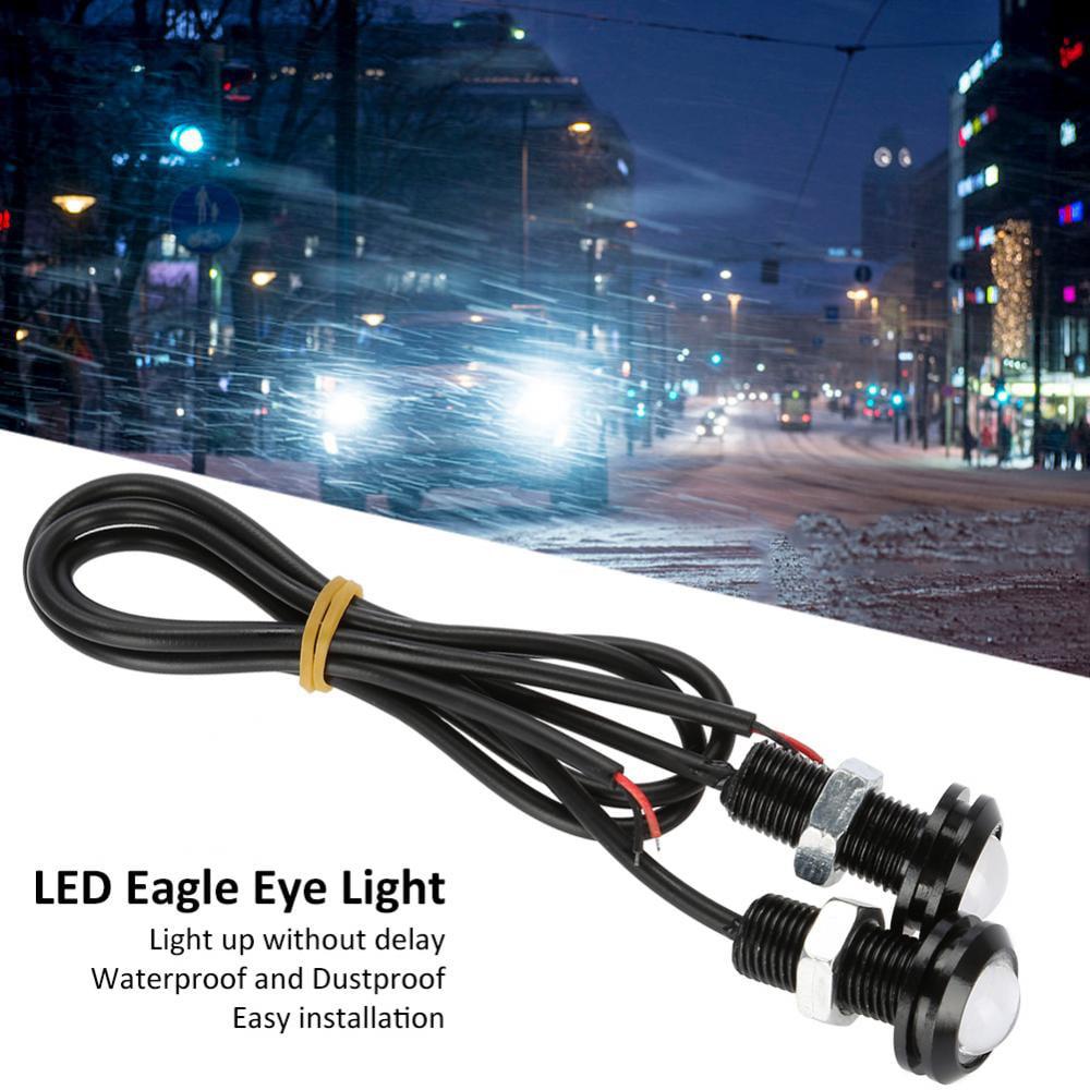 SEAFRONT 10pcs 10W 18mm White Eagle Eye Fog DRL LED Motor Car Head Tail Luz de Se/ñal de Respaldo Luz de Respaldo Luces del Marcador del Motor del Coche
