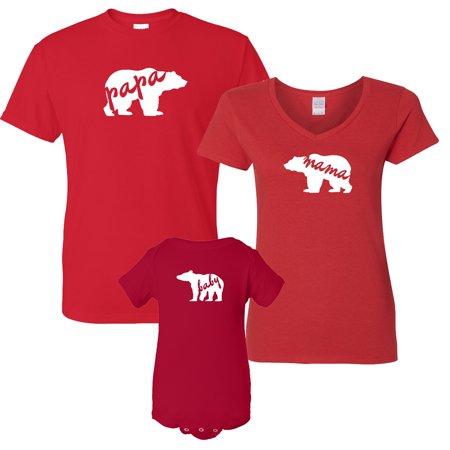 Custom Apparel R Us Christmas Gift Papa Bear Mama Bear