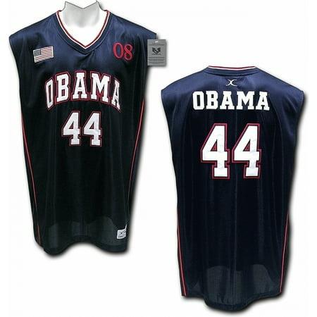 Mens Navy Blue Swiss - RapDom President Barack Obama #44 Mens Basketball Jersey [Navy Blue - XL]
