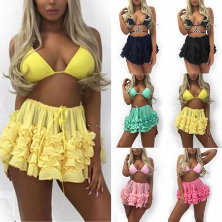 The Noble Collection Women Bikini Bottom Tankini Swim Skirt Cover Up Short Beach Dress Swimwear Pants