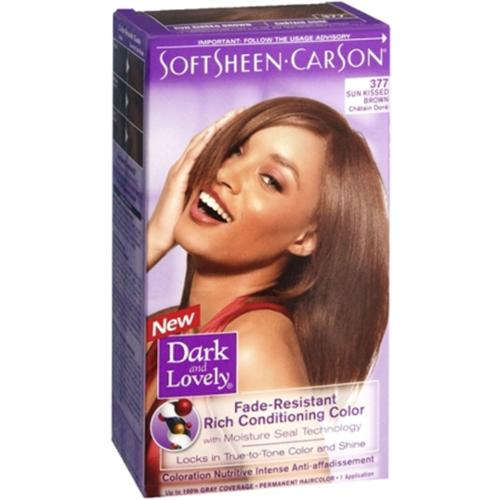 Dark and Lovely Fade Resistant Rich Conditioning Color, No. 377, Sun Kissed Brown, 1 ea (Pack of 6)