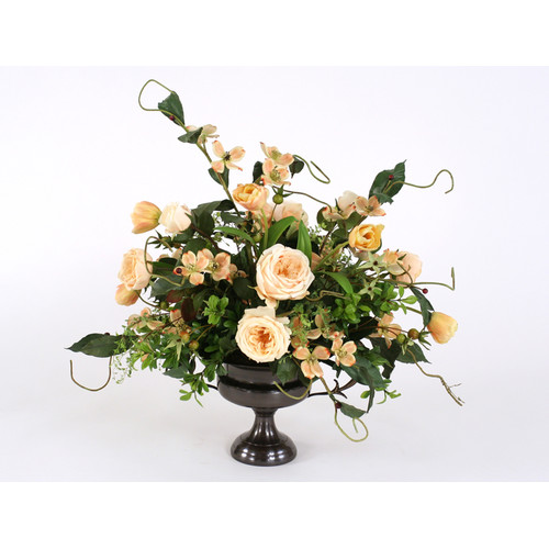 Distinctive Designs Champagne Mix of Silk Roses, Tulips a...